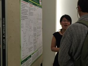 Tuong explaining her poster